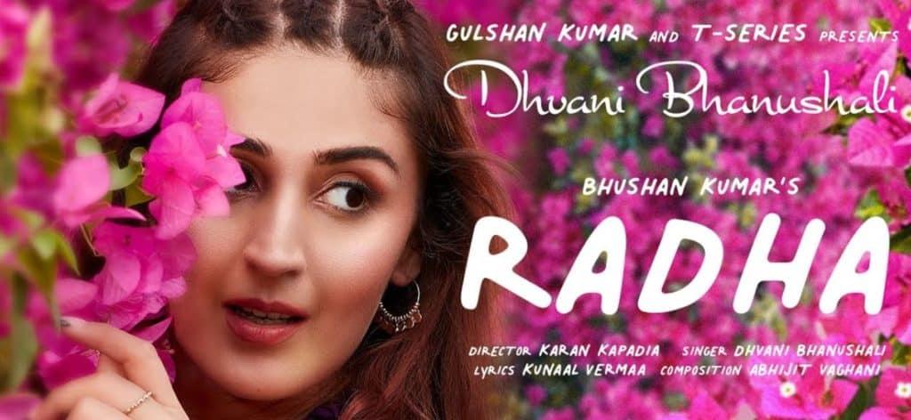 Radha Lyrics In Hindi - Dhvani Bhanushali