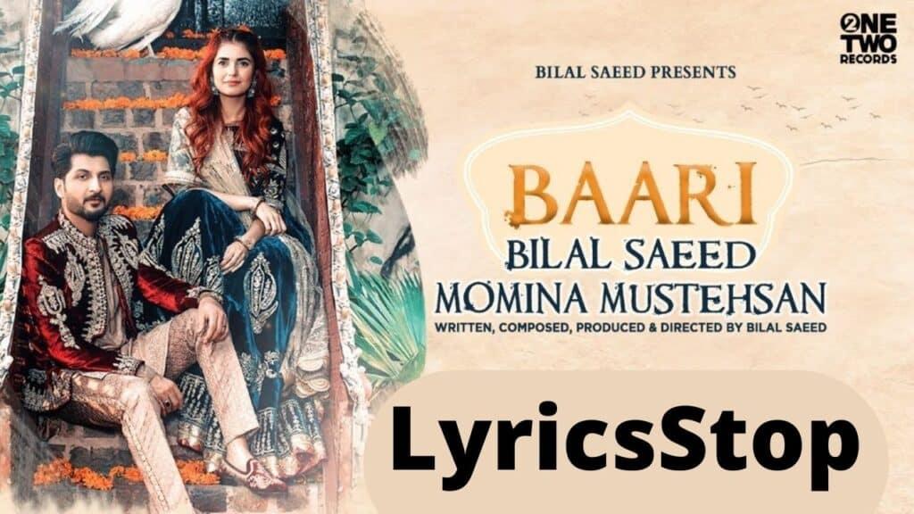 Baari Lyrics In Hindi – Bilal Saeed, Momina Mustehsan