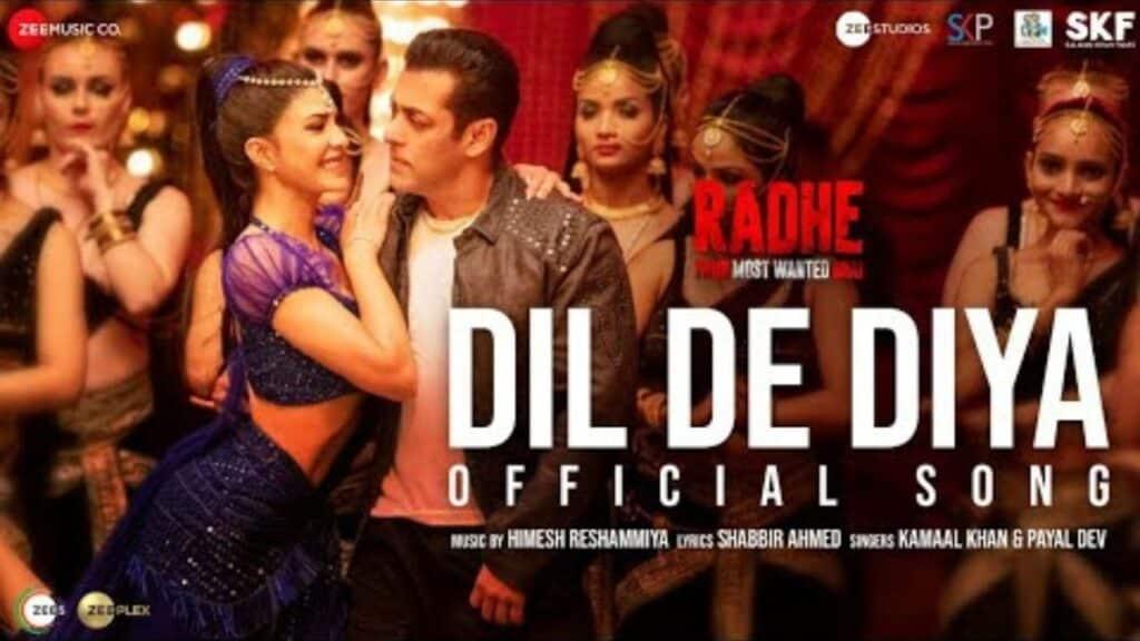 Dil De Diya Lyrics In Hindi - Radhe