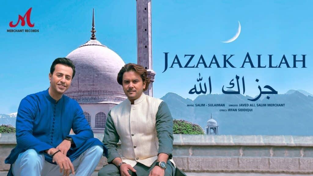 Jazaak Allah Lyrics In Hindi - Javed Ali, Salim Merchant