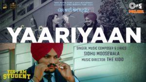 Yaariyaan Lyrics - Yes I Am Student